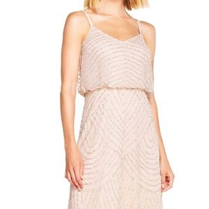 Adrianna Papell Long Formal Dress in Blush